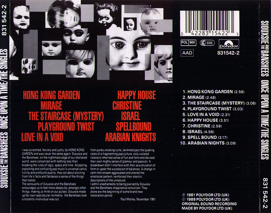 Siouxsie And The Banshees Once Upon A Time The Singles