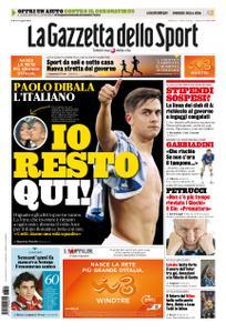La Gazzetta dello Sport Roma – 21 marzo 2020