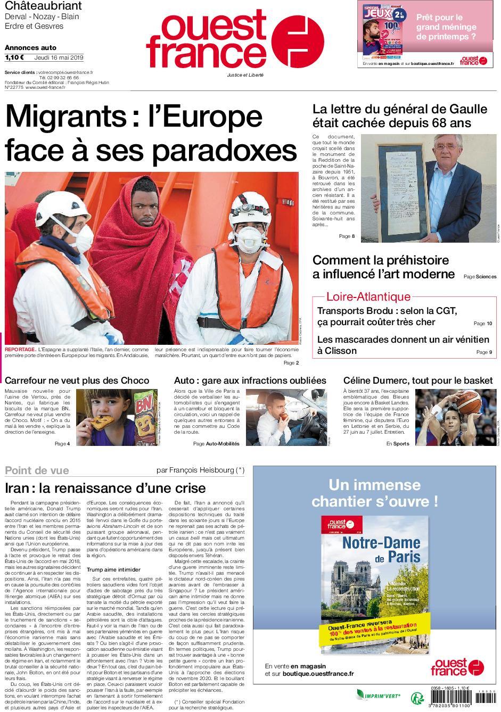 Ouest-France Châteaubriant – 16 mai 2019
