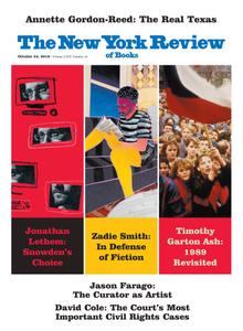 The New York Review of Books - October 24, 2019