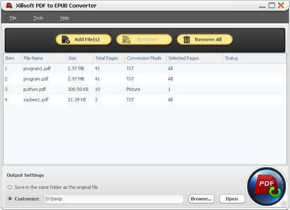 Xilisoft PDF to EPUB Converter 1.0.4.0124 + RUS