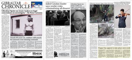 Gibraltar Chronicle – 28 October 2019