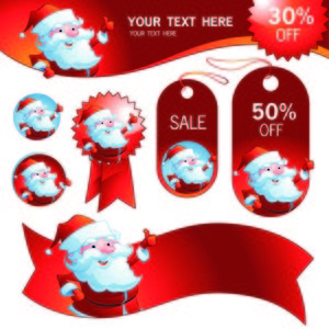 Santa sale label