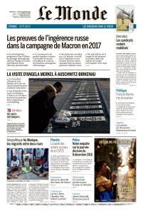 Le Monde du Dimanche 8 et Lundi 9 Décembre 2019