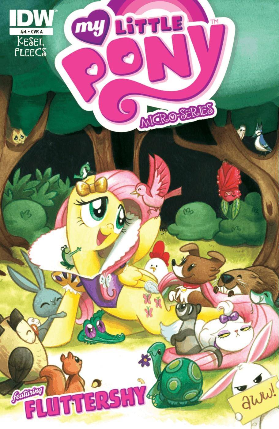 My Little Pony - Micro Series 004 Fluttershy 2013 2 covers digital