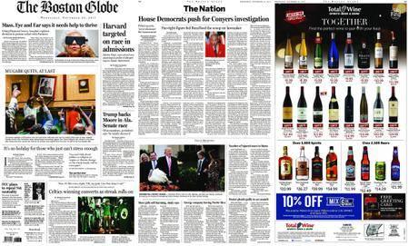 The Boston Globe – November 22, 2017