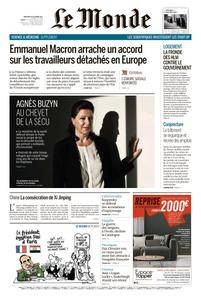 Le Monde du Mercredi 25 Octobre 2017
