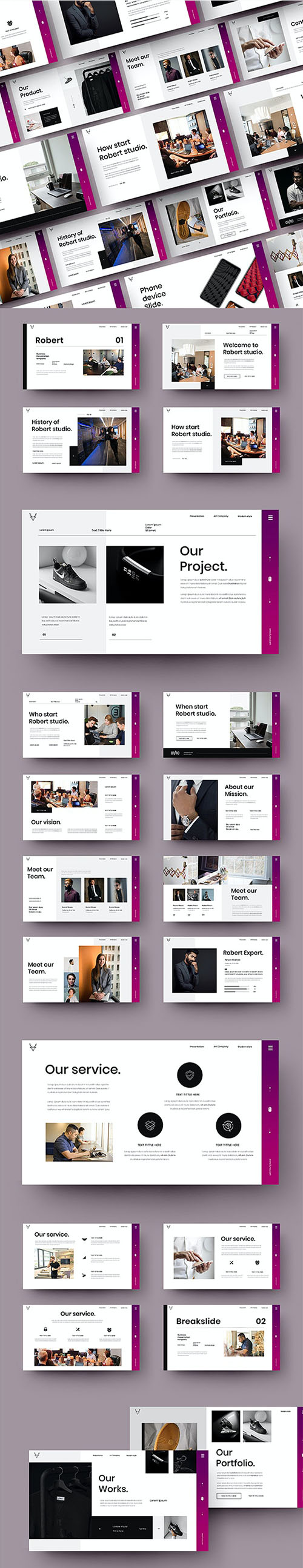 Robert - Business Powerpoint, Keynote and Google Slides Template