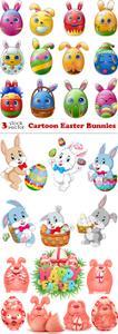 Vectors - Cartoon Easter Bunnies