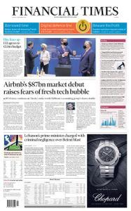 Financial Times Europe - December 11, 2020