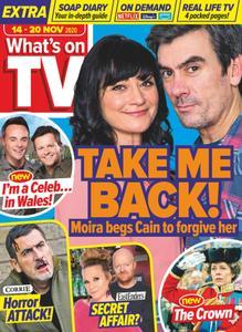 What's on TV - 14 November 2020
