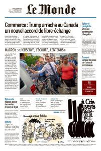 Le Monde du Mardi 2 Octobre 2018