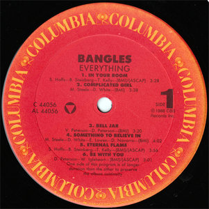 Bangles - Everything (Columbia OC 44056) (US 1988) (Vinyl 24-96)