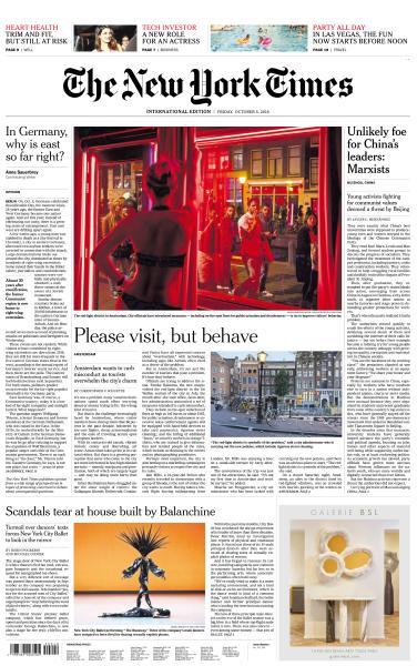 International New York Times - 5 October 2018