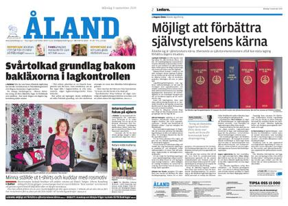 Ålandstidningen – 09 september 2019