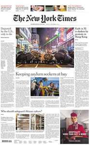International New York Times - 09 September 2019