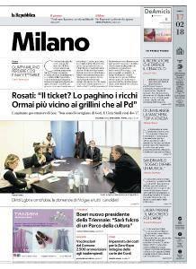 la Repubblica Milano - 17 Febbraio 2018