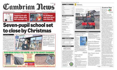Cambrian News Arfon & Dwyfor – 01 October 2021