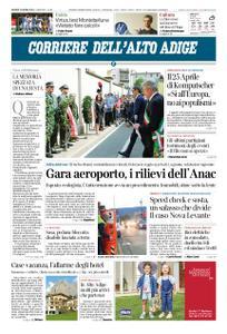 Corriere dell'Alto Adige – 25 aprile 2019