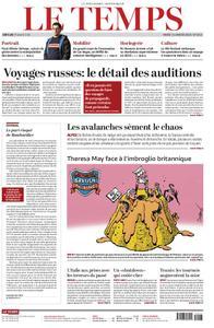 Le Temps - 15 janvier 2019