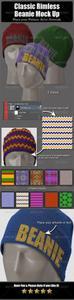 GR - Classic Beanie PSD Mockups + Patterns