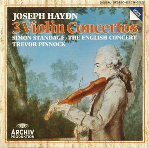 Simon Standage, Trevor Pinnock - Haydn: 3 Violin Concertos, Salomon: Violin Romance (1989)