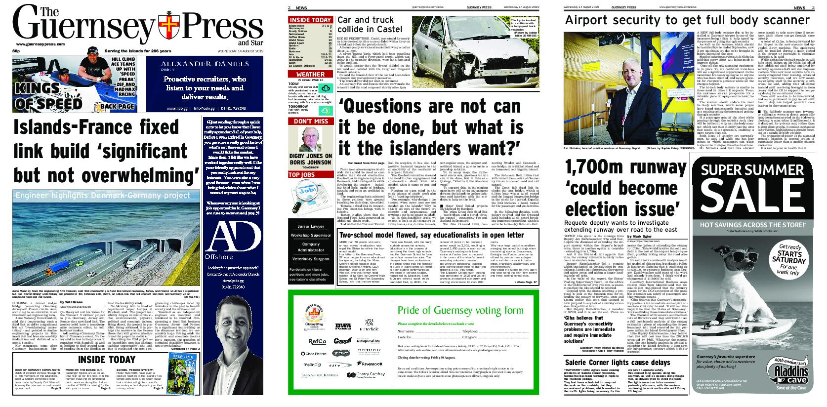 The Guernsey Press – 14 August 2019