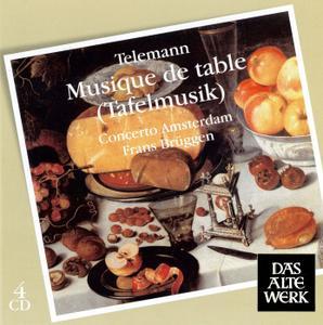 Frans Brüggen, Concerto Amsterdam - Telemann: Musique de Table [4CDs] (2008)