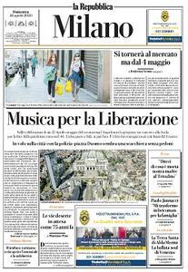 la Repubblica Milano - 26 Aprile 2020