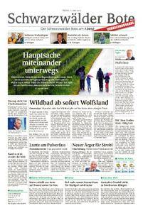 Schwarzwälder Bote St. Georgen, Triberg, Furtwangen - 11. Mai 2018