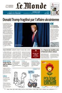 Le Monde du Vendredi 27 Septembre 2019