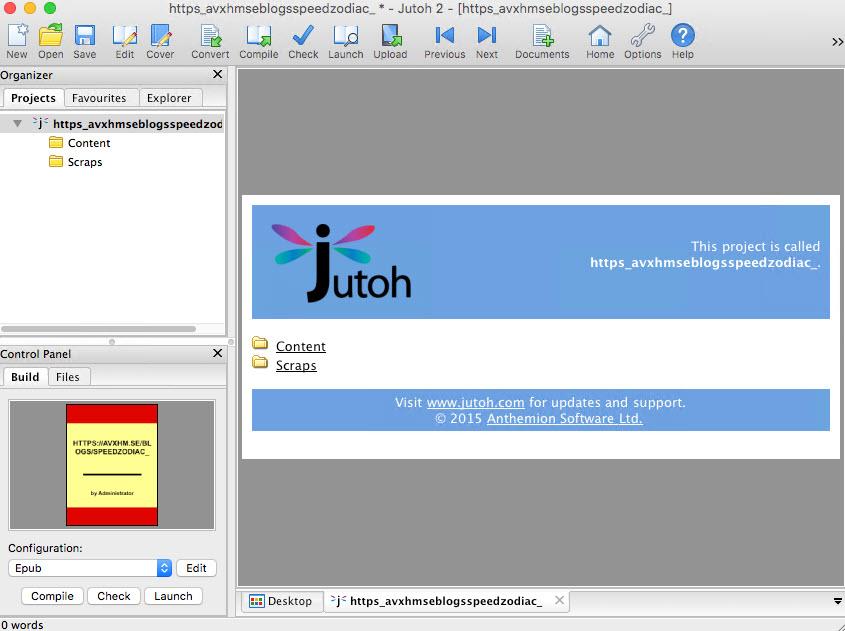 Anthemion Software Jutoh 2.90 (Mac/Lnx)