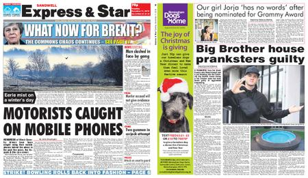 Express and Star Sandwell Edition – December 11, 2018