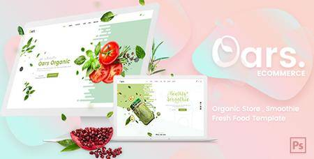 ThemeForest - Oars - Creative Organic Store , Smoothie , Fresh Food PSD Template - 20209979