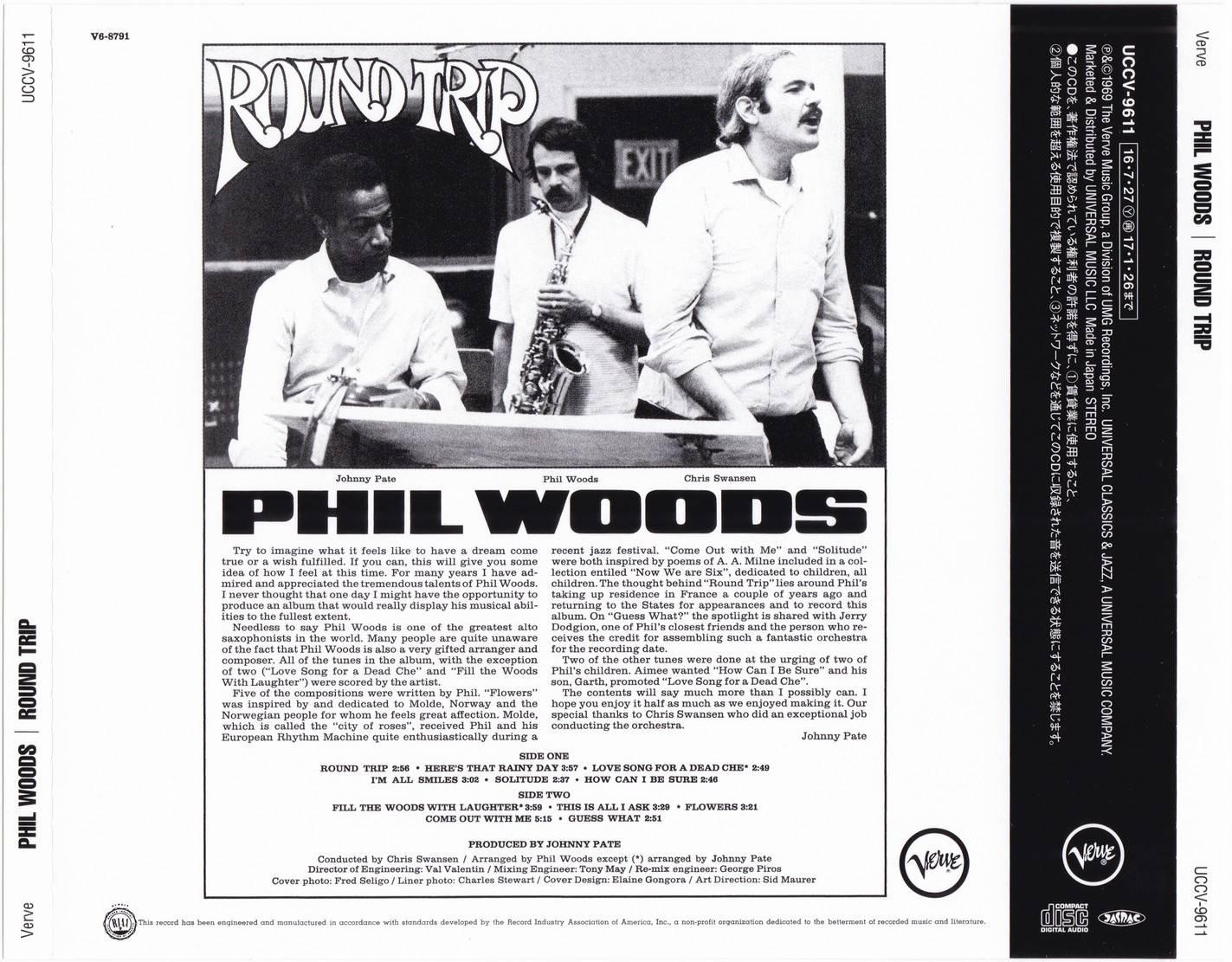 Phil Woods - Round Trip (1969)  {2016 Japan Verve 60th Rare Albums SHM-CD Reissue Series UCCV-9611}
