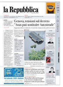 la Repubblica - 16 Settembre 2018