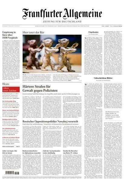 Frankfurter Allgemeine Zeitung - 9 Februar 2017