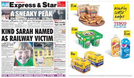 Express and Star Sandwell Edition – October 12, 2017
