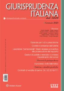 Giurisprudenza Italiana - Gennaio 2020