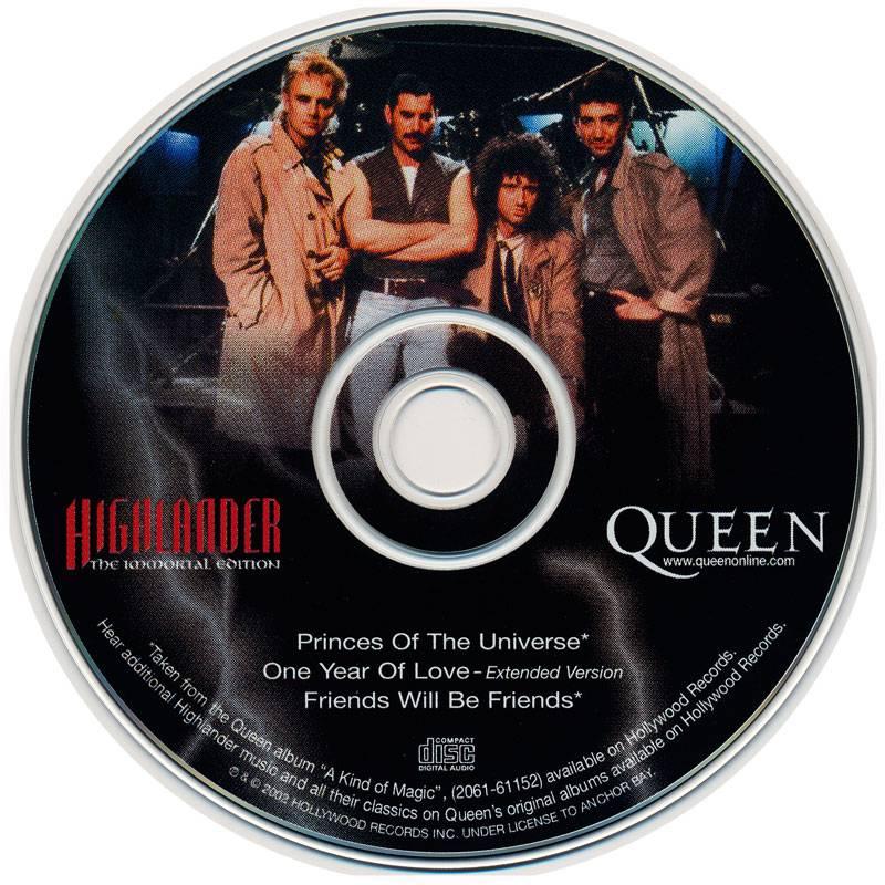 Queen Highlander Soundtrack: Highlander. The Immortal Edition (2002) [CD Only