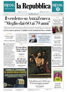la Repubblica - 8 Aprile 2021