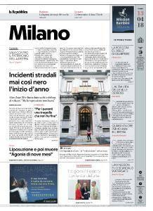 la Repubblica Milano - 13 Aprile 2018
