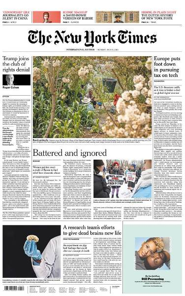 International New York Times - 15 July 2019