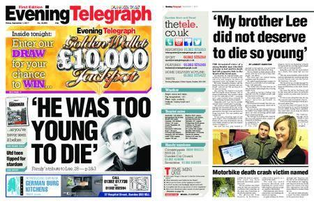 Evening Telegraph First Edition – September 01, 2017