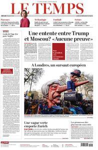 Le Temps - 25 mars 2019