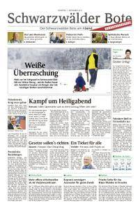 Schwarzwälder Bote Hechingen - 07. November 2017