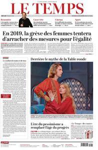 Le Temps - 28 décembre 2018