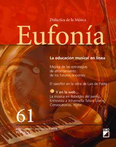 Eufonía. Didáctica de la Música - julio 2014