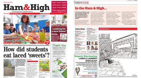 Ham & High – October 08, 2020