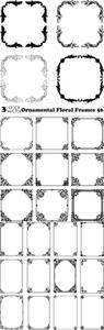 Vectors - Ornamental Floral Frames 56